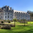 Chenonceau back garden — Stock Photo