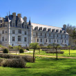 Chenonceau back garden - Stock Photo