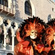 Colorful venetian masks — Stock Photo