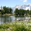 Arpy lake in Valle d'Aosta , Italy - Stock Photo