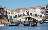 Canal Grande boats traffic — Stock Photo
