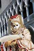 Venetian mask with marble pillars — ストック写真