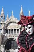 Paarse dame masker — Stockfoto
