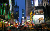 Broadway at night — Stock Photo
