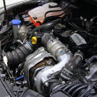 Engine in car hood — Stock fotografie