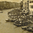 Vintage postcard of Rialto — Stock Photo