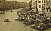 Vintage postcard of Rialto — Foto Stock