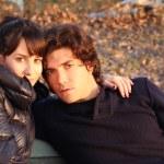 Romantic couple in sunset light — Stock Photo #9333205