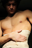Ribcage pain — Stock Photo