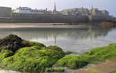St Malo from the beach — Stock Photo