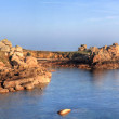 Cote du granite rose panorama - Stock Photo