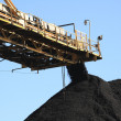 Coal Conveyor Belt - Stock Photo
