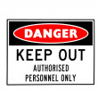 Danger sign — Stock Photo #9117550