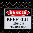 Danger sign — Stock Photo #9168080
