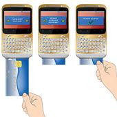 PAYMENT SMARTPHONE 01 — Stock Vector