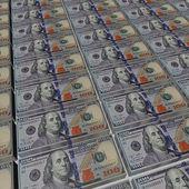 Liasses Dollars — Stock Photo