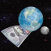 Planète argent — Stock Photo