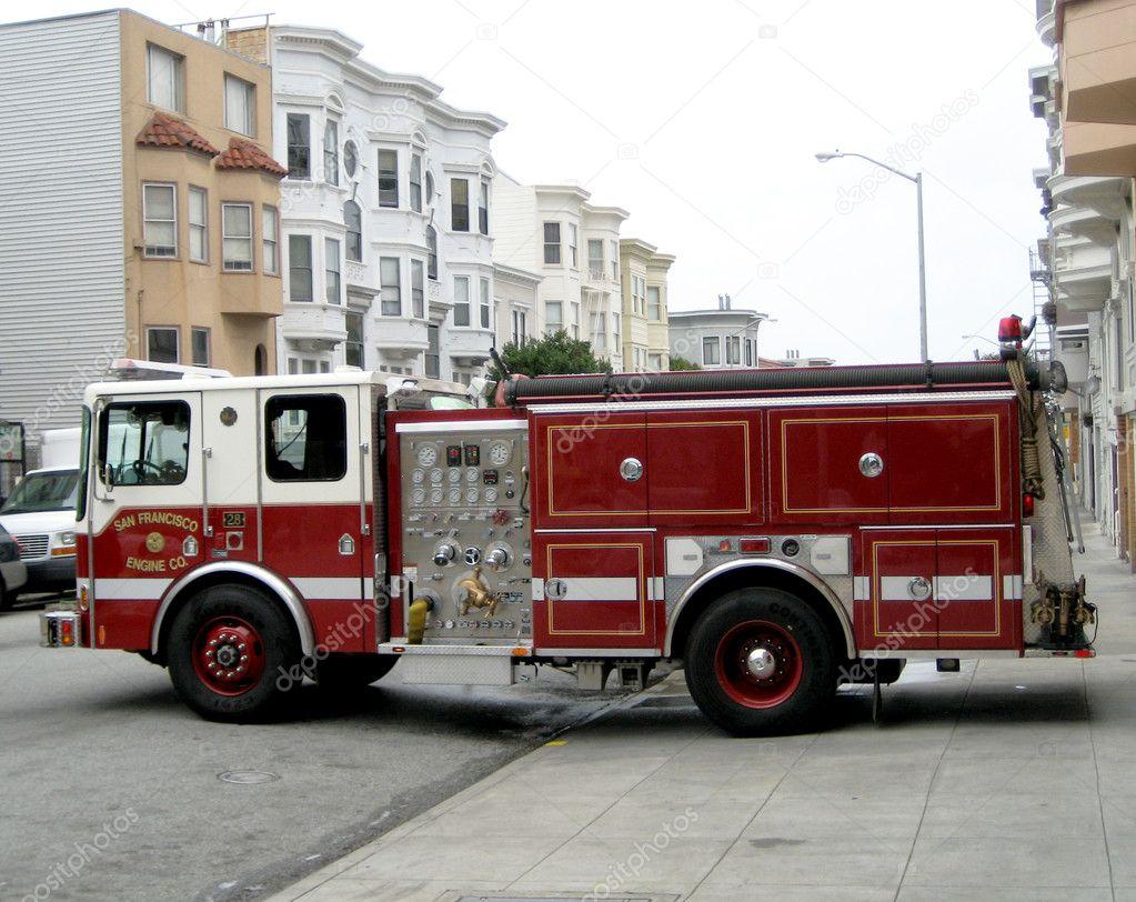 Camion pompier san francisco photo 9123299 - Image camion pompier ...
