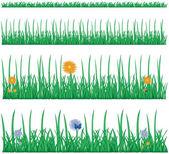 Green - flowers — Stock Vector