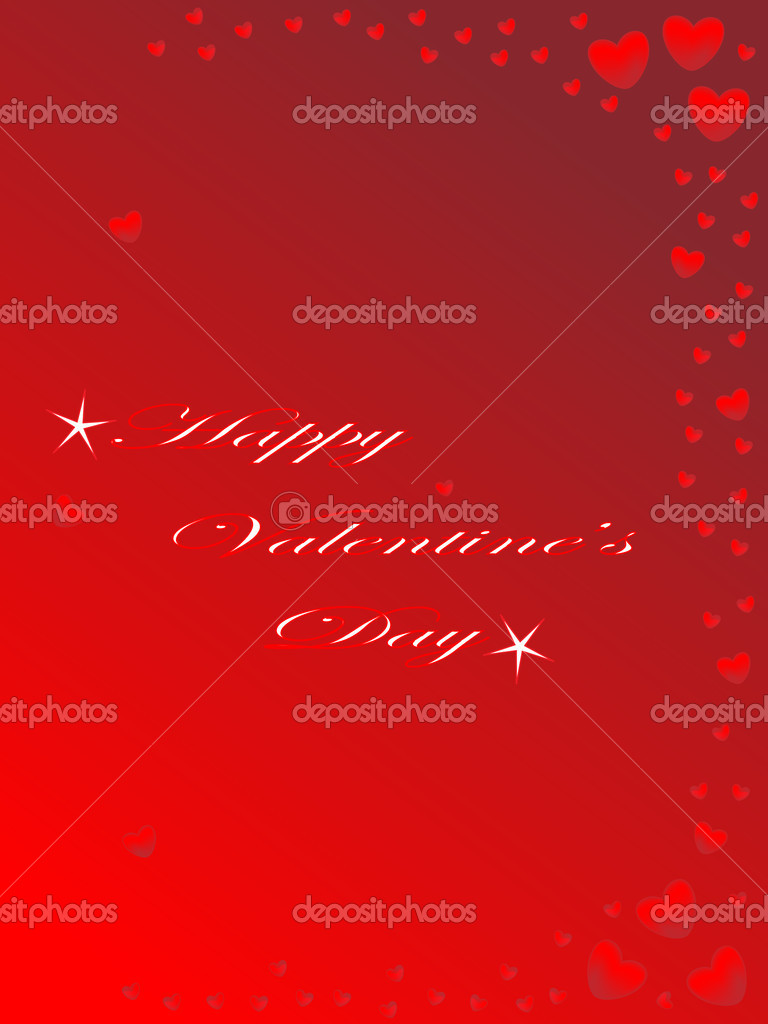 Valentines day card with little hearts — Stock Vector #8966873