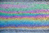 Oil on wet asphalt — Stock Photo
