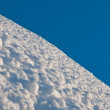 Untouched snow and clear blue skies — Stock Photo