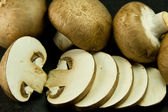 Many small portabello mushrooms, also known as chestnut mushroom — Stock Photo