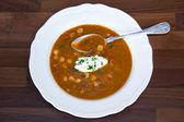 Hungarian goulash soup — Stock Photo