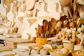 Wooden kitchen accessories — Stock Photo