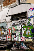 Alternative grafitti building — Stockfoto