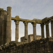 Ruins of Roman Temple, Evora — Stock Photo