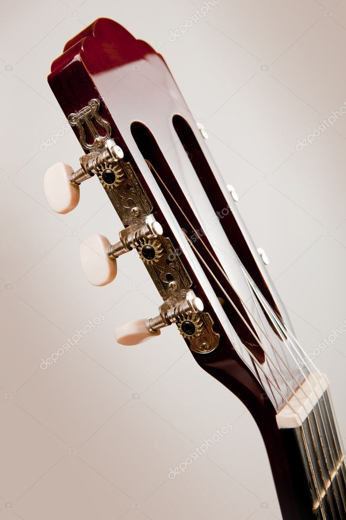 Guitar neck. Studio shot. Isolated. — Stock Photo #9063204