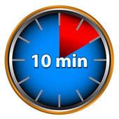Tien minuten — Stockvector