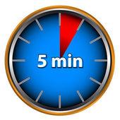 Cinco minutos — Vector de stock