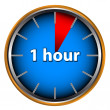 One hour - Stock Vector