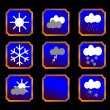 Weather buttons — Stock Vector #10160442