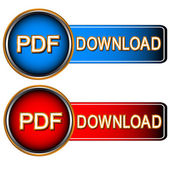 Pdf download icons — Stock Vector