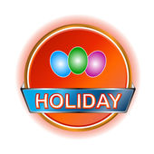 Holiday icon — Stock Vector