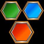 Three web icons — Stock Vector #10408612