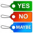 Stockvector : Yes No and Maybe - Three Signs