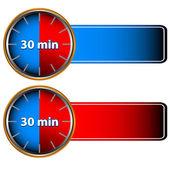 30 dakika etiketleri — Stok Vektör