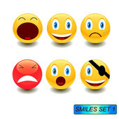 Smiles set — Stock Vector