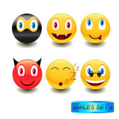 Smiles set 3 — Stock Vector