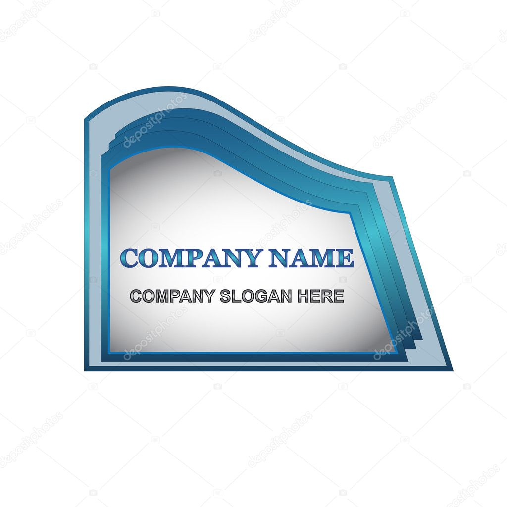 Unique emblem of the company located on a white background  Stock Vector #9131928
