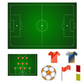 Football set — Stock Vector