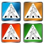 Pedestrian crossing signs — Stock Vector