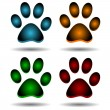 Stock Vector: Four paws