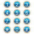 Royalty-Free Stock Vector Image: Numbers icons