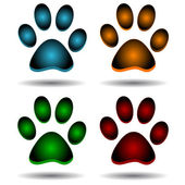 Four paws — Stock Vector