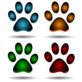 Four paws — Stock Vector
